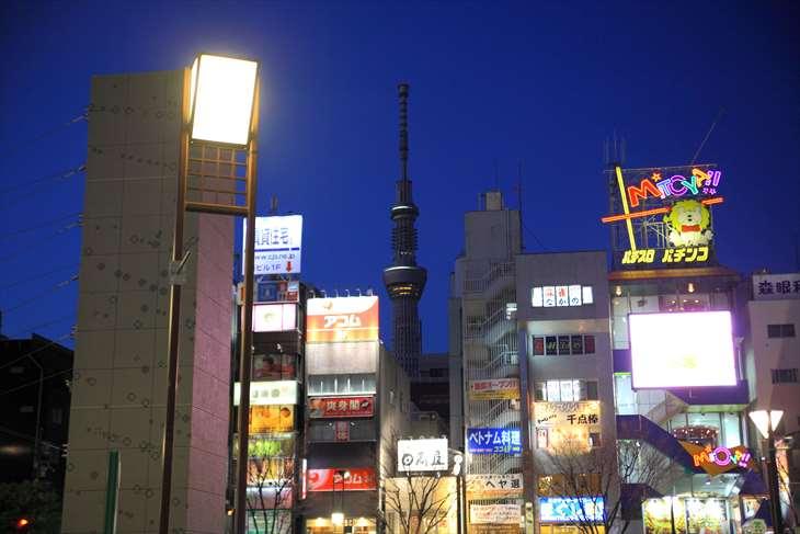 JR錦糸町駅から東京スカイツリーまで