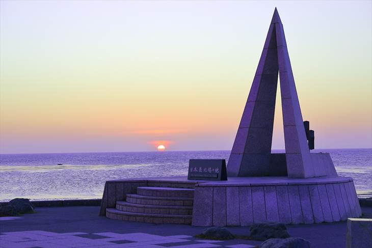 日本最北端から見る夕陽