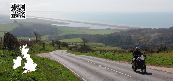 UK coastal road dorset