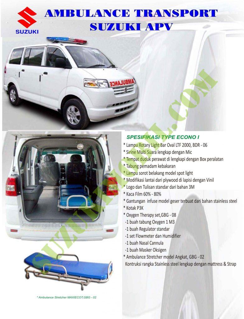 suzuki apv ambulance econo 1