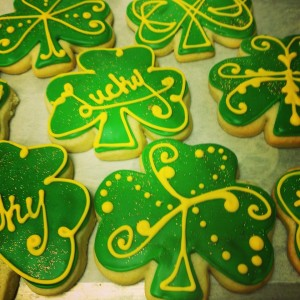st pattys day cookies