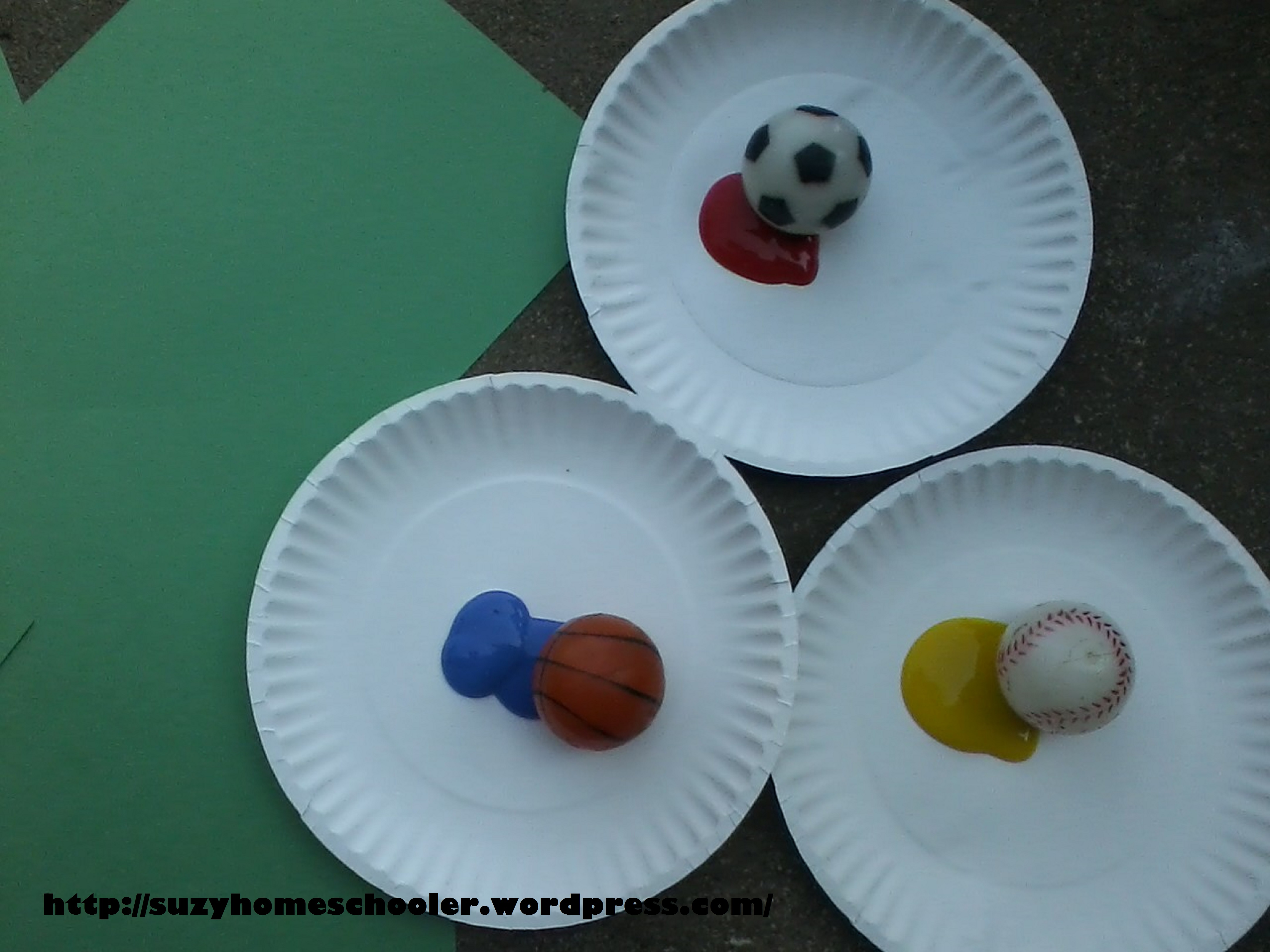 Wrapping Up Sports Theme Week And Ball Bounce Painting