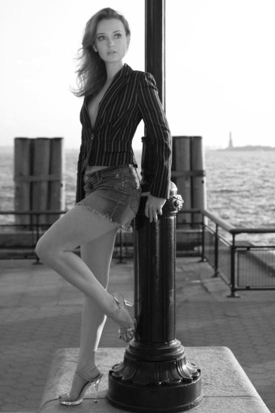 One of my first shoots in Manhattan. The Statue of Liberty is in the background.