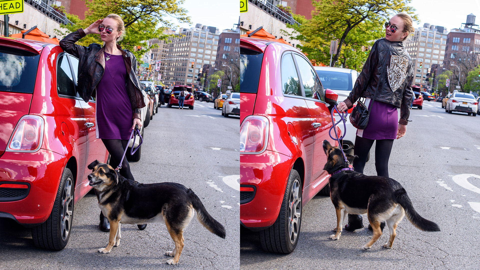 SuzyMae and Leila in Greenwich Village by Bryan Thatcher