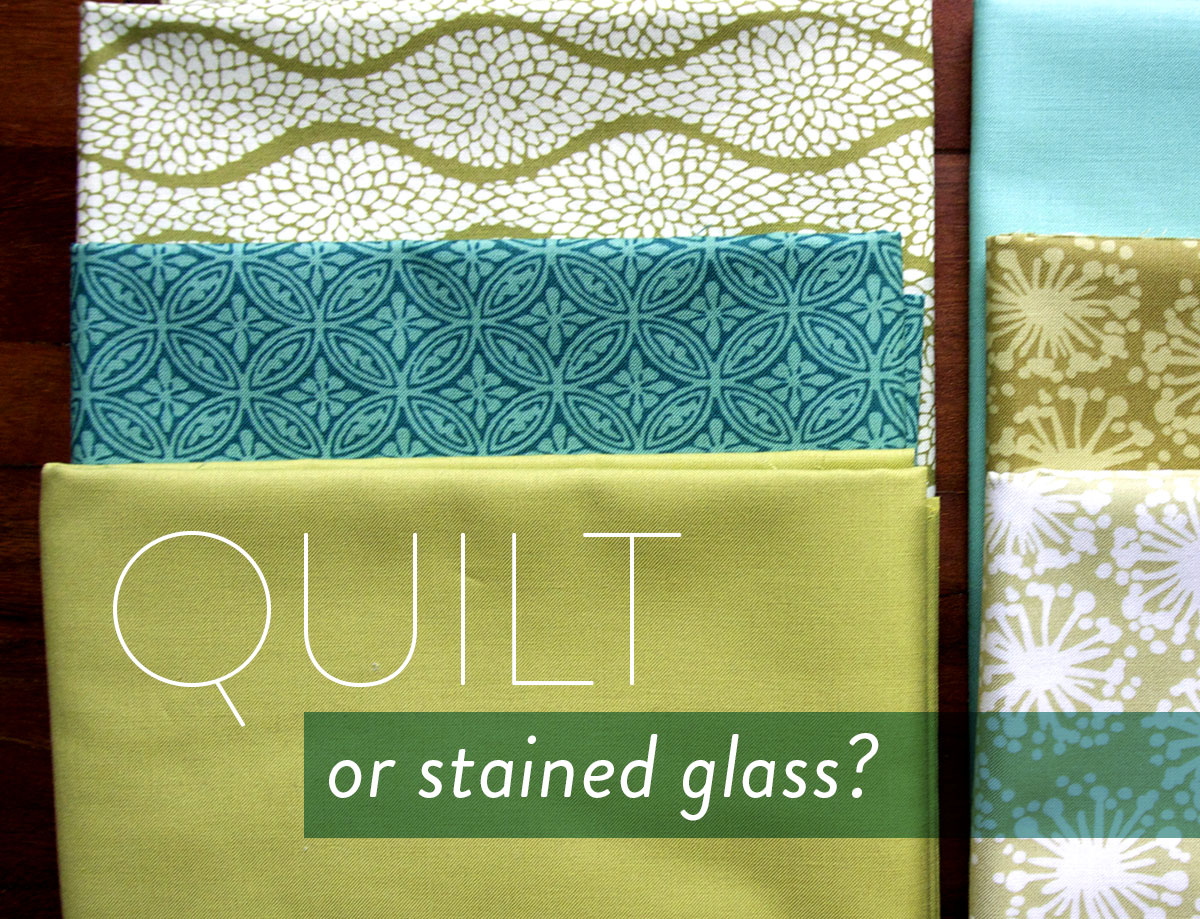 How To Make A Stained Glass Quilt And Other Quilty