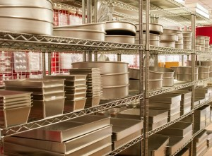 Cake Pans on a Rack