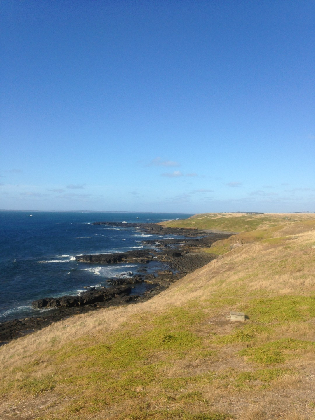 Summer views along the coastline of Phillip Island, Australia on a sunny day