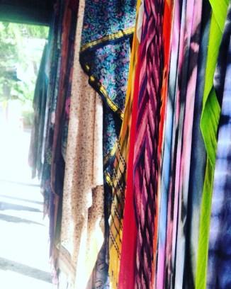 Hippie fabrics at Nimbin, Australia