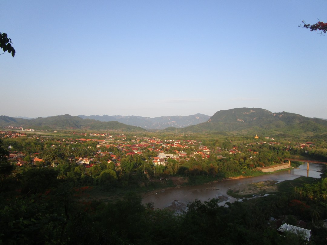 Late afternoon sunset over Luang Prabang
