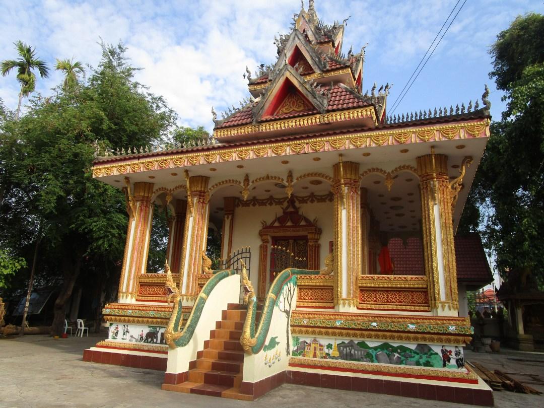 Beautifully intricate temple in Laos