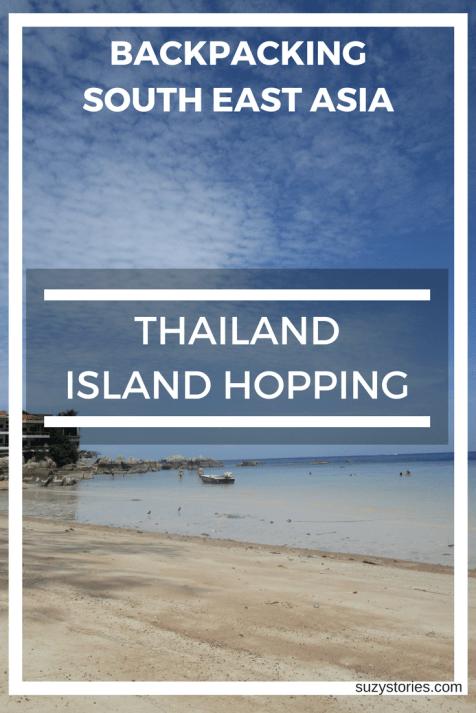 Text overlay Sairee Beach on Koh Tao in Thailand