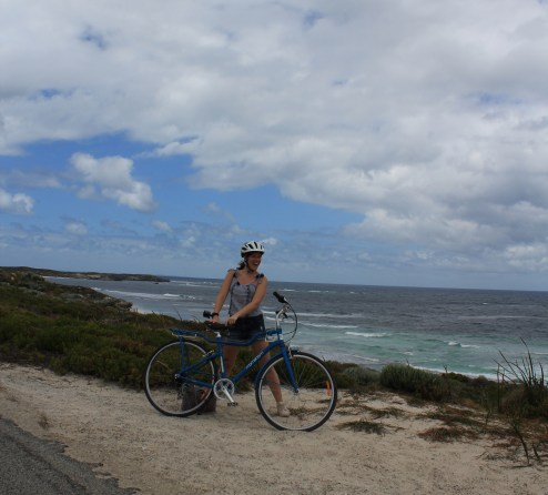 Hired bike from Rottnest Island with Coastal background