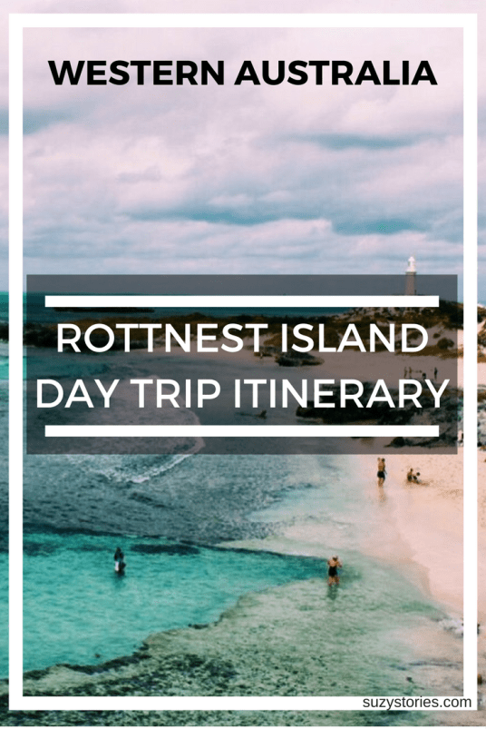 Pinterest image of The Basin on Rottnest Island with title overlay text