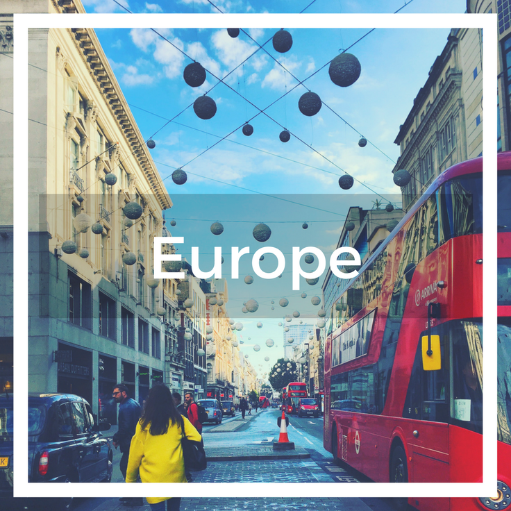 Text overlay image of Oxford Street London with traditional london bus