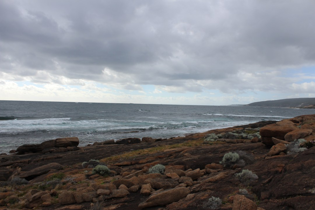 Views across the ocean from Cape Leeuwin