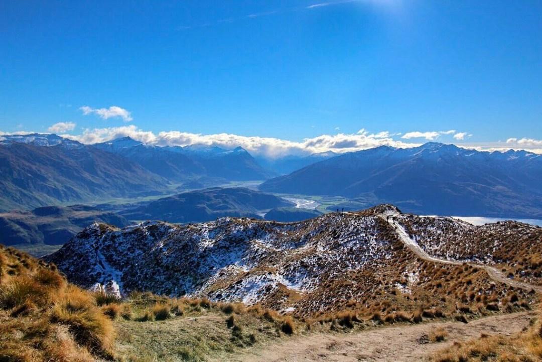 Descending Roy's Peak in Wanaka New Zealand