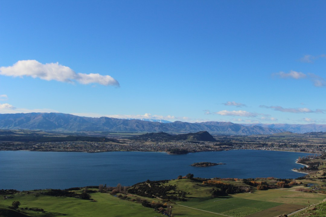 Wanaka town from Roy's Peak track