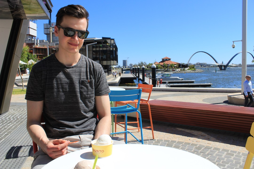 Best things to do in Perth - one day itinerary. Gusto Gelato in Elizabeth Quay
