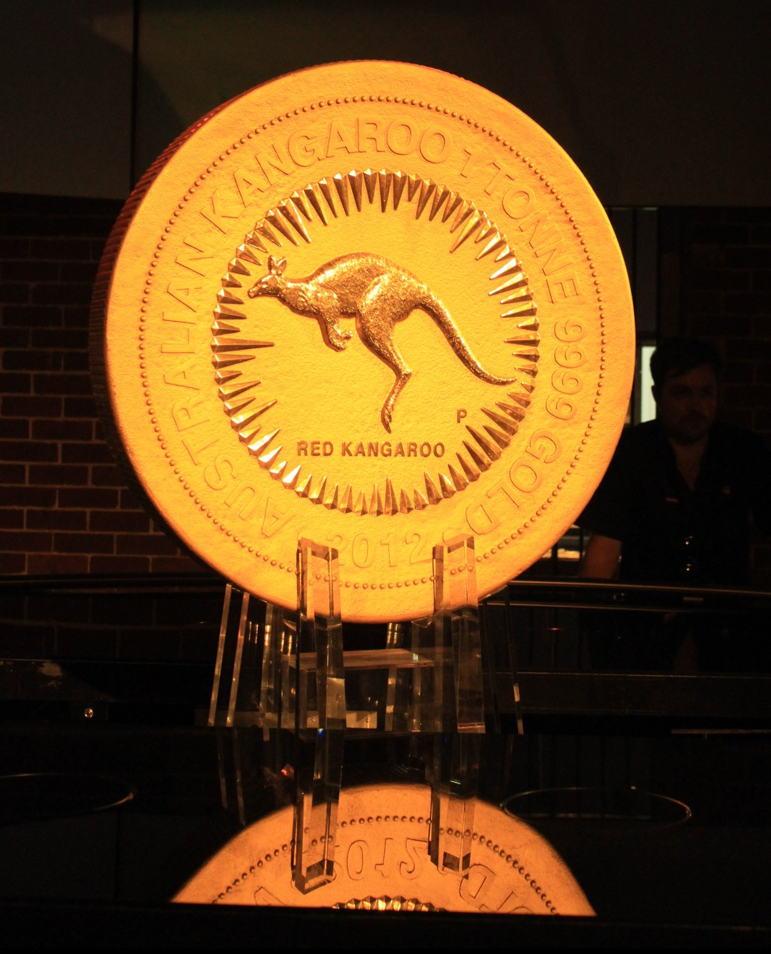 Best things to do in Perth - one day itinerary. See the One Tonne Kangaroo Coin at Perth Mint