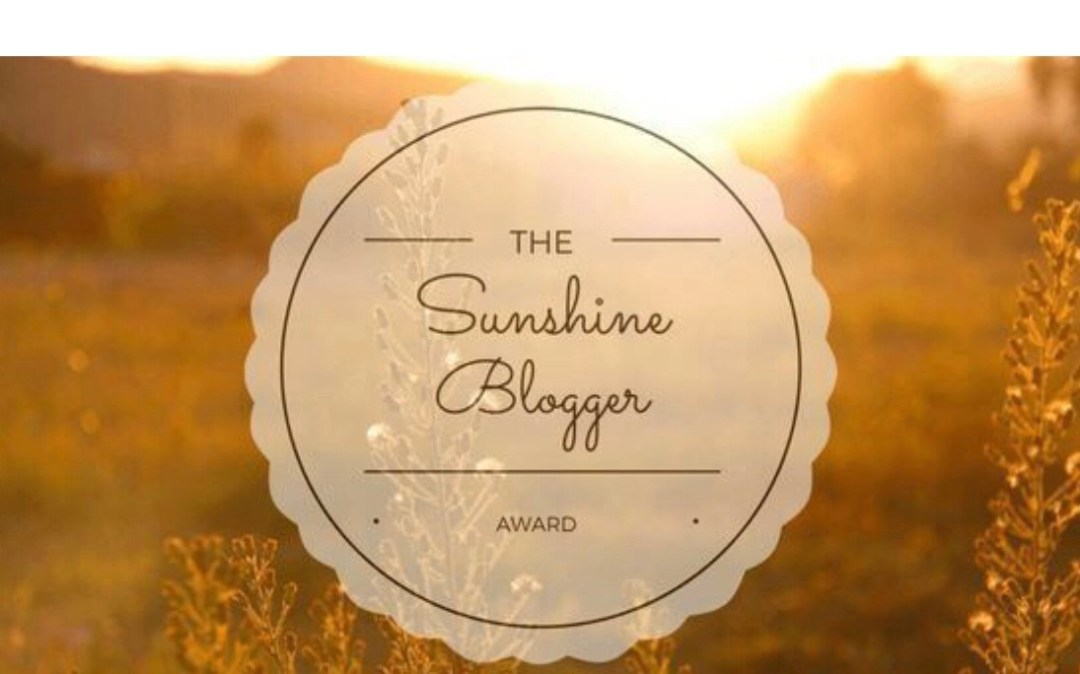 Blogger Award Nominations - Sunshine Blogger Award