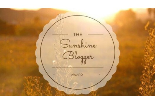 Blogger Award Nominations - Sunshine Blogger Award