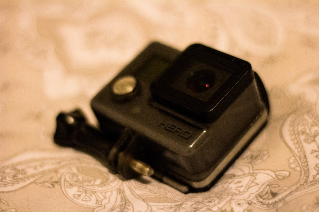 A GoPro Hero camera up close