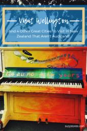 Rainbow coloured piano in Wellington harbour