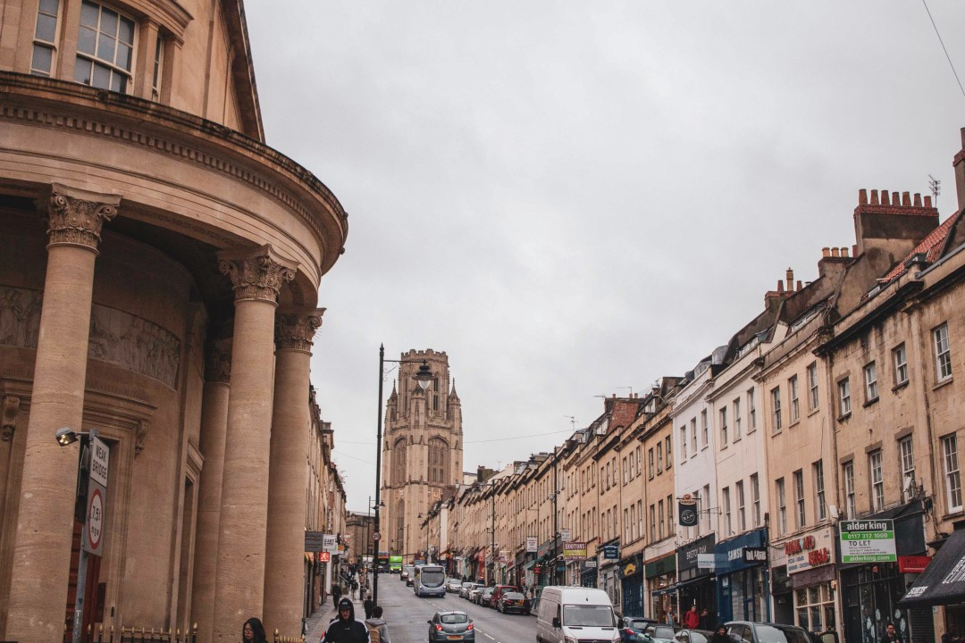 Visit Bristol In One Day Trip - Explore Bristol's harbourside, famous landmarks, and beautiful countryside for an immersive taste of history, world exploration, and engineering! Walking up Park Street with Wills Memorial Building at its peak.