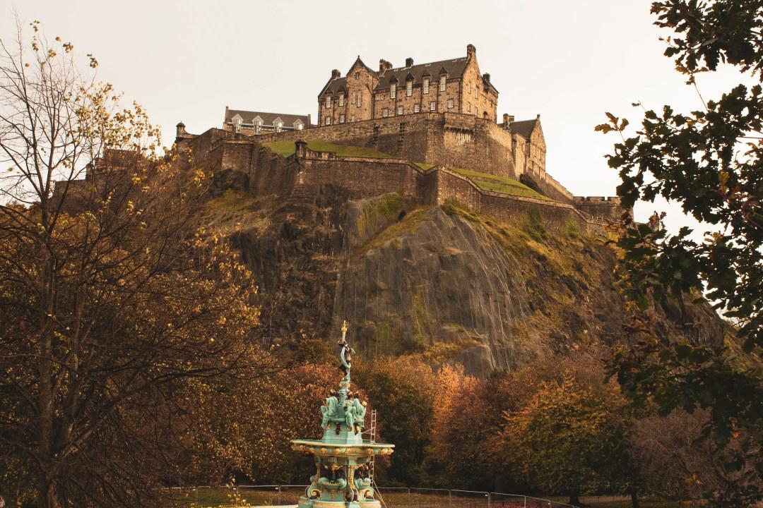 Edinburgh Castle from Princes Street Garden