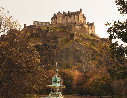 Edinburgh Castle from Princes Street Garden