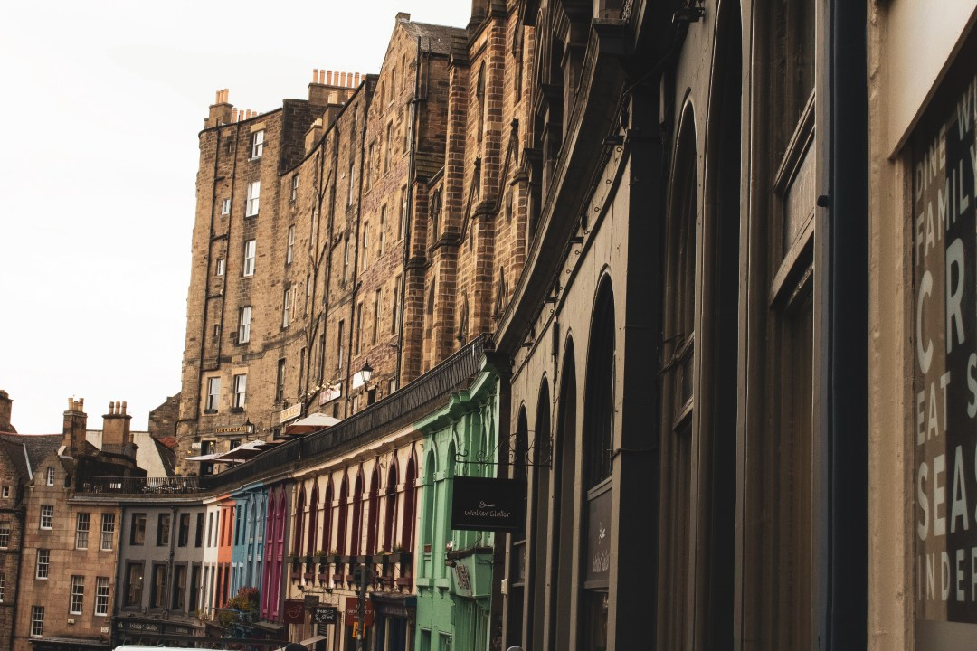 Victoria Street shops in Edinburgh