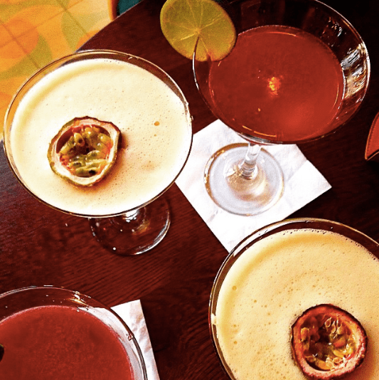 brightly coloured brazilian cocktails