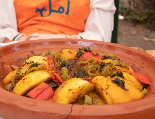 cooked vegetable tagine