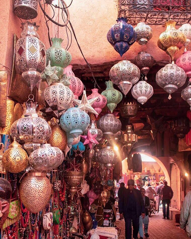 lanterns in marrakech souks