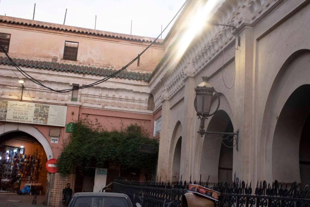 mouassine fountain arches in marrakech