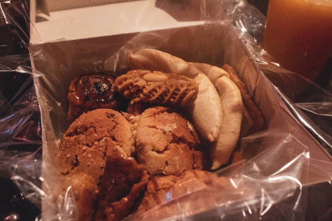Box of sweet biscuits and pastries in Marrakech