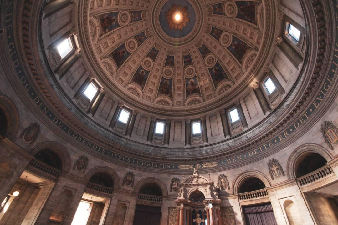 Domed ceiling of Fredrik's Church Copenhagen