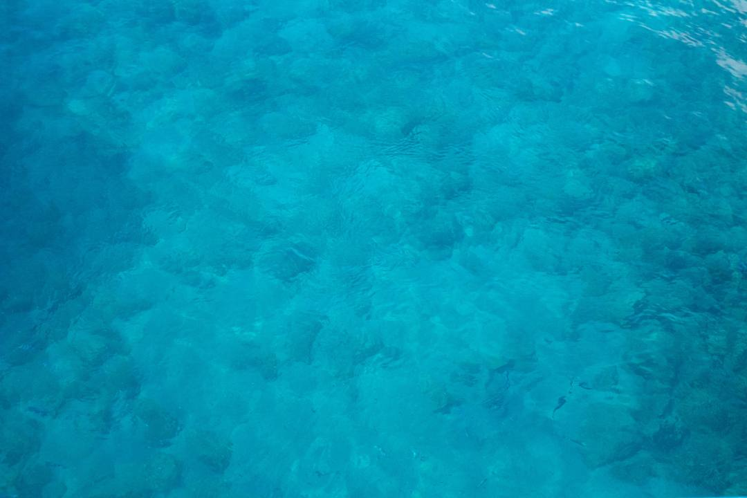 Clear blue sea water