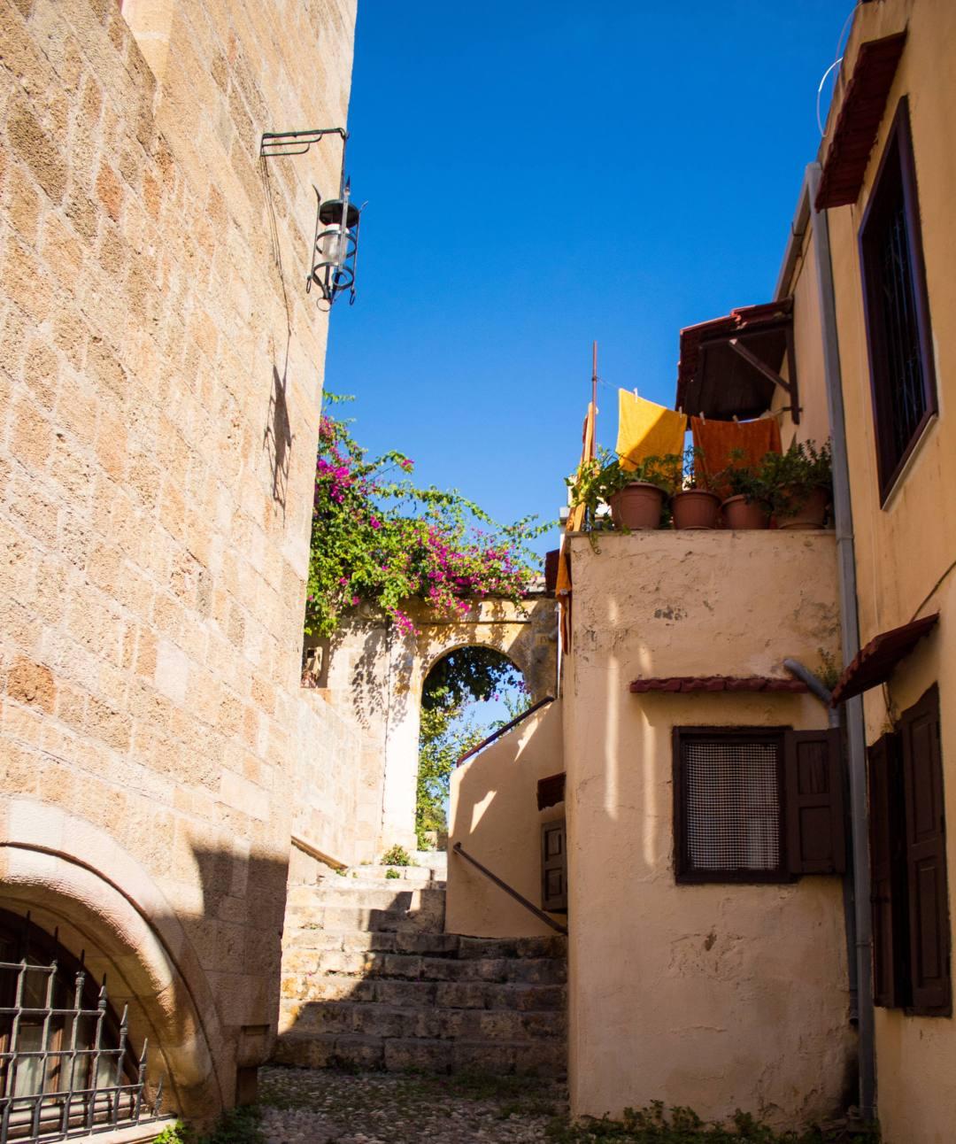 Quaint houses in Rhodes