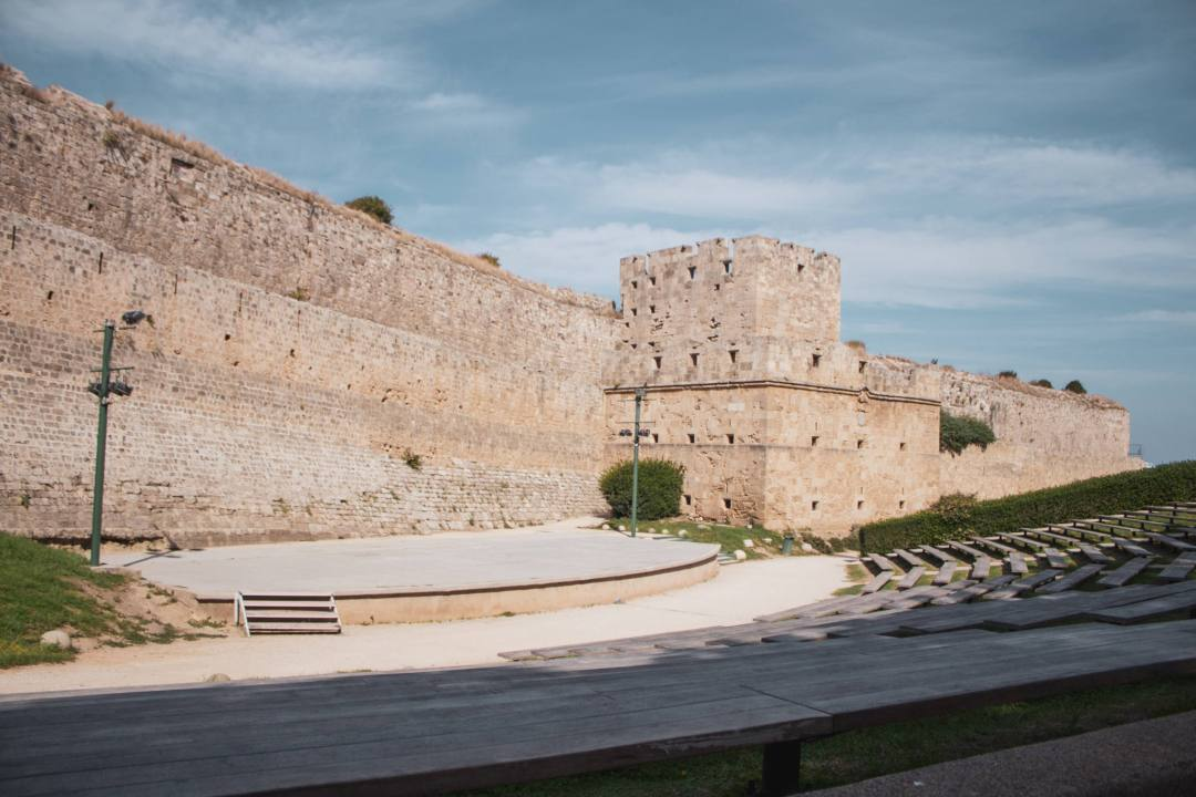 Medieval theatre in Rhodes moat