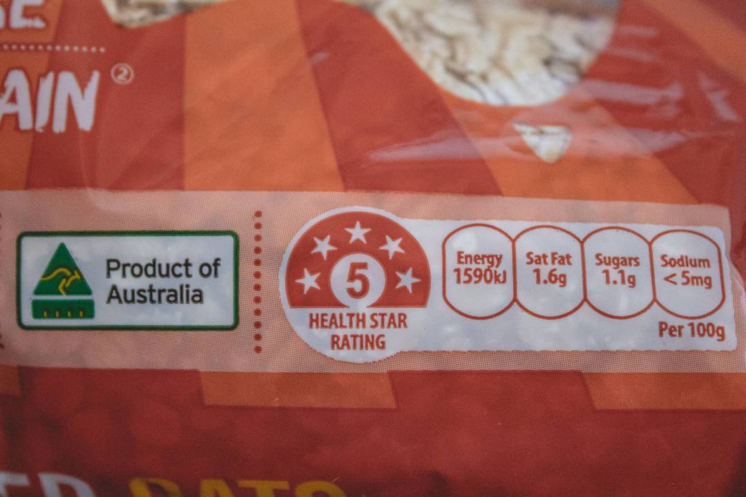 Australian food star rating