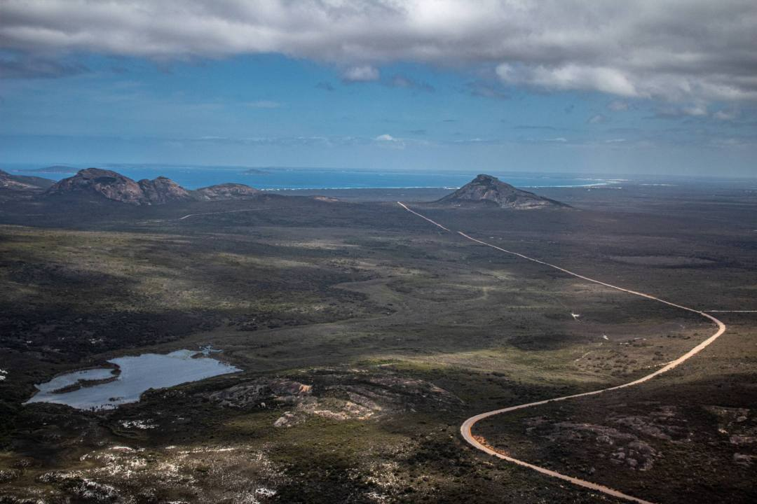 Cape Le Grand National Park from scenic flight