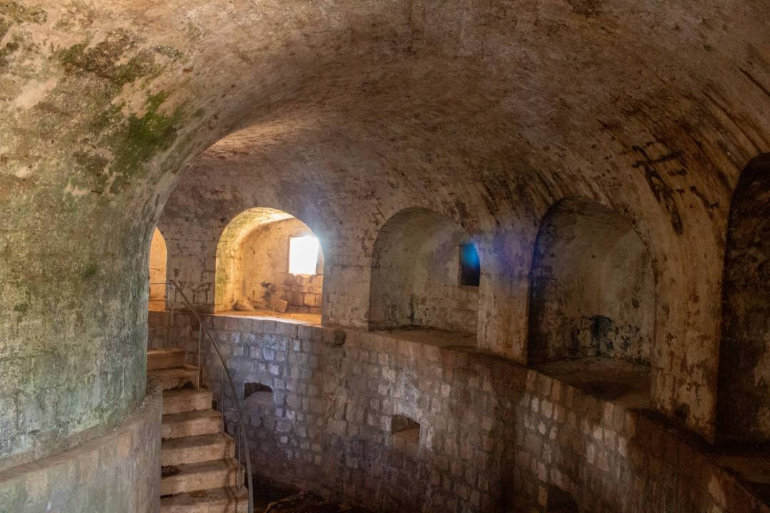 inside the fortress of lokrum island