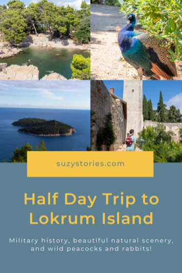 collage of photos from lokrum island