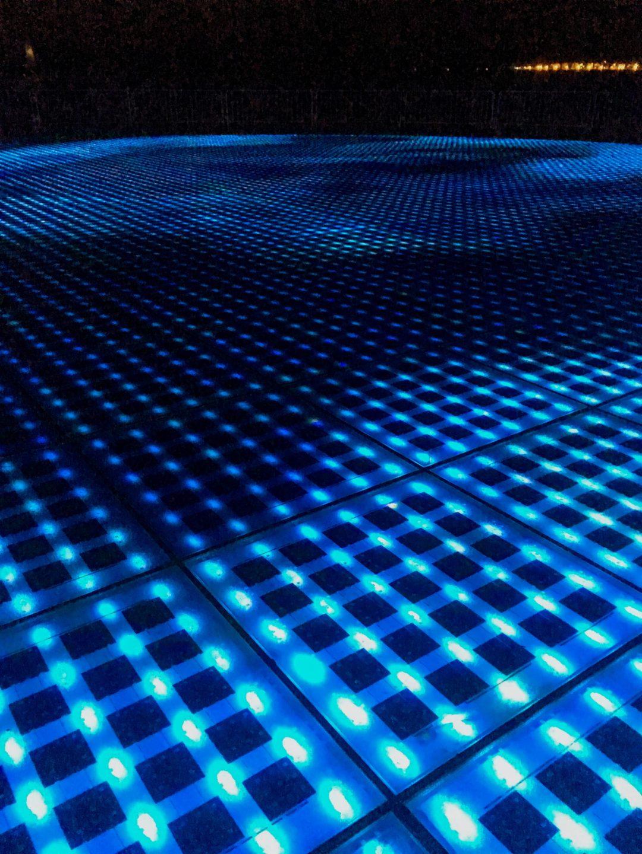 LED light show on ground at Sun Salutation Zadar