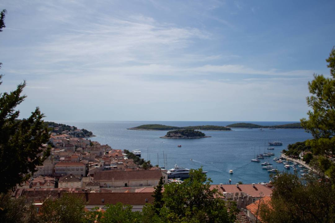 old town of hvar from above