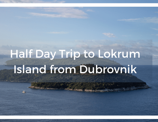 lokrum island with title text overlay