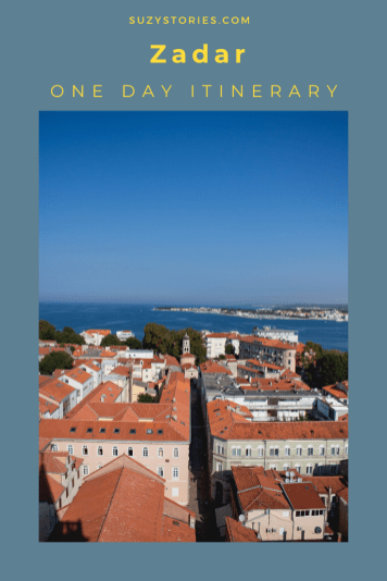 view over zadar city