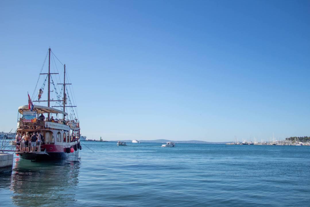 boat at split harbour