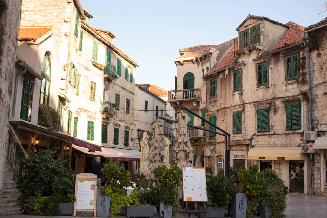 split old town buildings